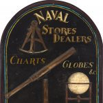 "Terrific 1850s-style ""Naval Stores"" trade sign"