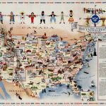 Mary Ronin's 1958 pictorial map celebrating American diversity
