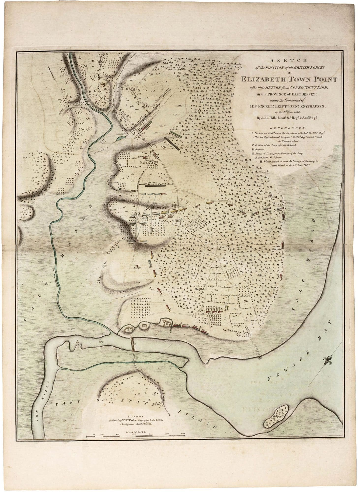 John hills map of the failed 1780 british invasion of new jersey john hills map of the failed 1780 british invasion of new jersey gumiabroncs Images