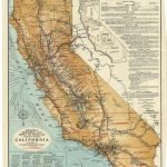 Union Lithograph Co., GEOGRAPHICAL, TOPOGRAPHICAL, STATE HIGHWAY AND RAILROAD MAP OF CALIFORNIA. San Francisco: California Development Board, 1916.