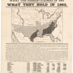 A striking 1861 historical chart of the United States, with a pro-Union message