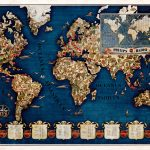 1930s Walter Eckhard Philips shortwave radio world map