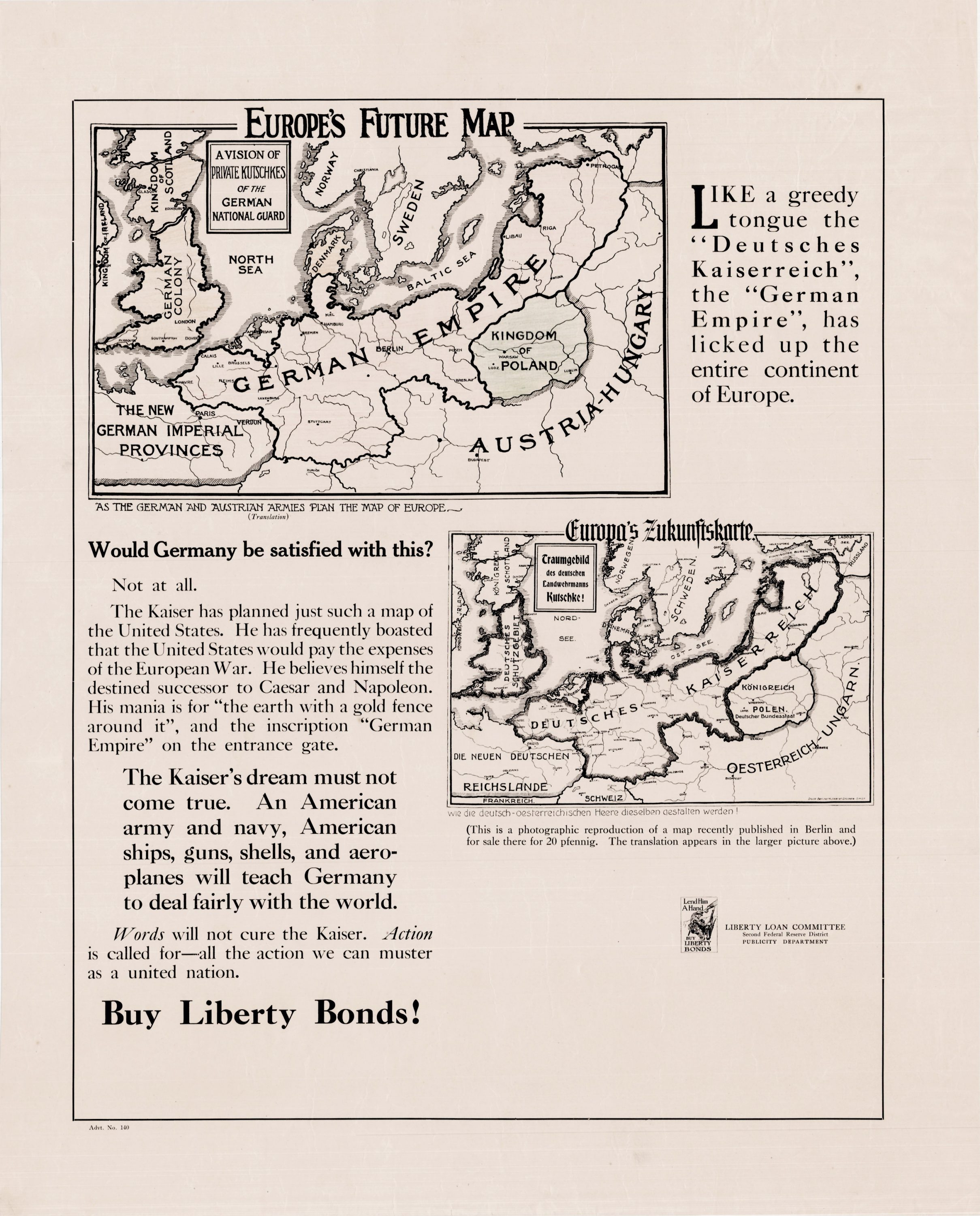 Map Of Europe For Sale.Europe S Future Map Helps Sell Liberty Bonds Rare Antique Maps