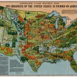 1922 ARMOUR'S FOOD SOURCE MAP[:] THE GREATNESS OF THE UNITED STATES IS FOUNDED ON AGRICULTURE