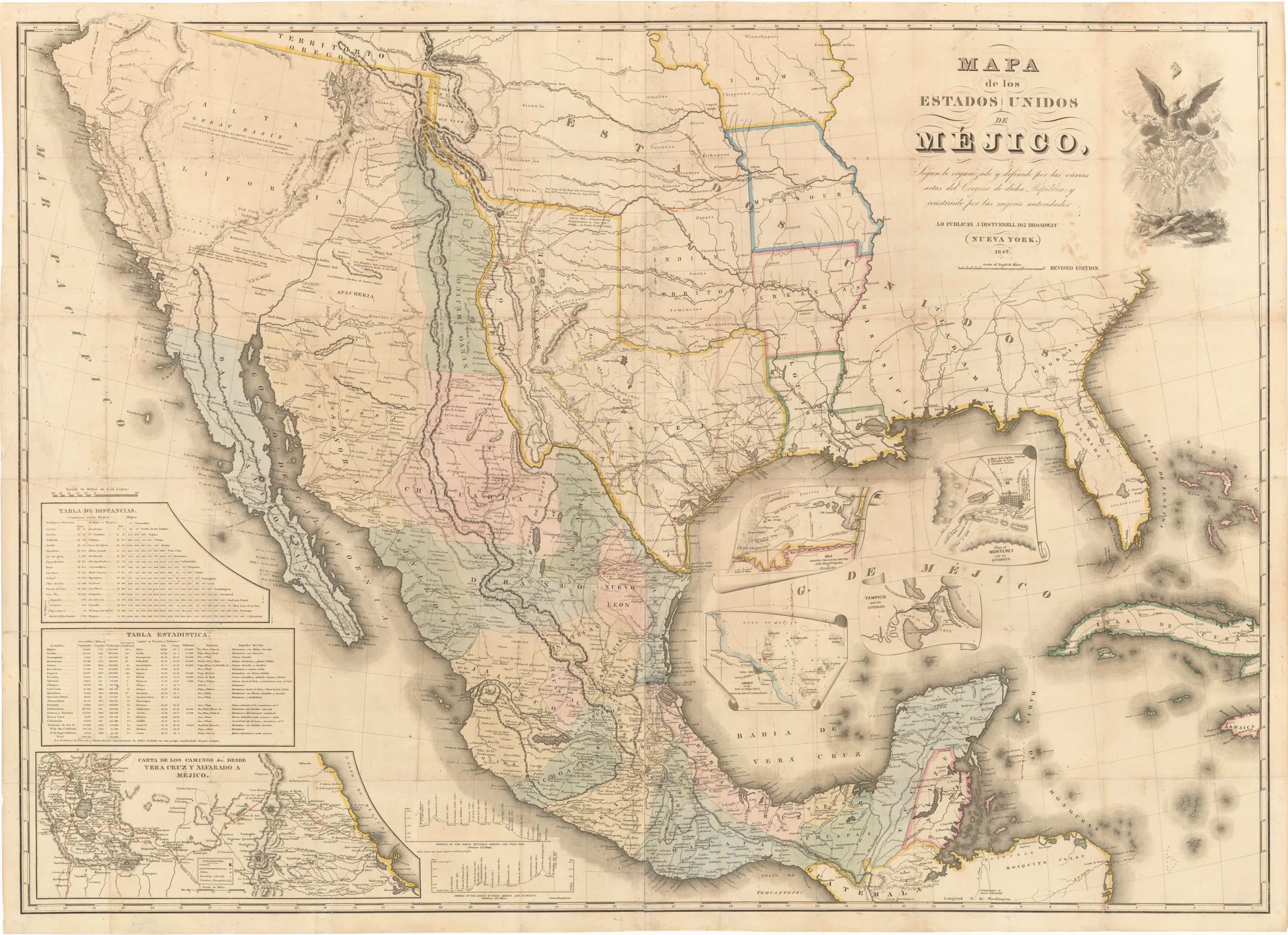 The 1847 Disturnell Treaty Map of Mexico and the American West