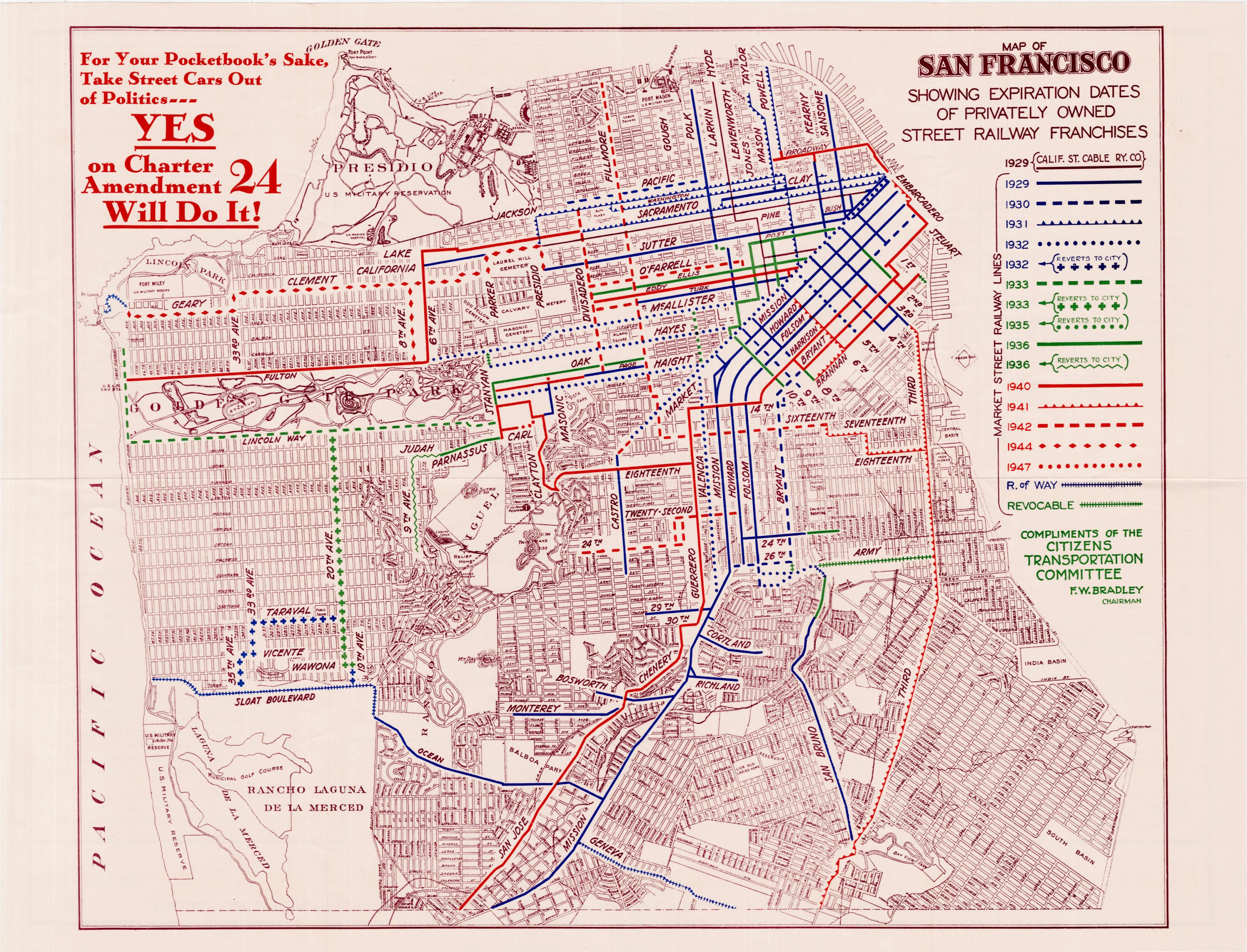 Persuasive map advocating reform of San Francisco\'s street ...