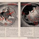 "R. M. Chapin 1943 ""Global Combat"" map for Time Magazine"