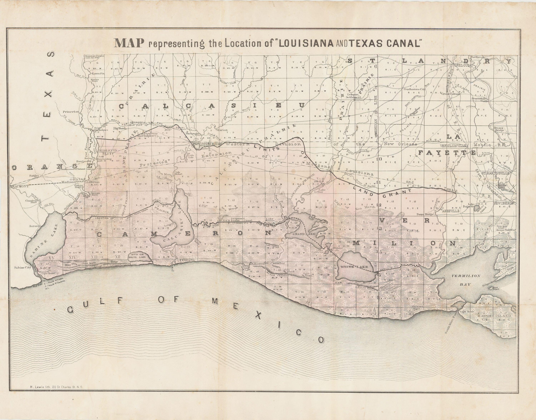 A massive land grab by the Louisiana and Texas Canal Company? - Rare ...