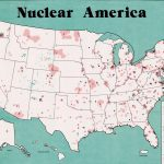 1969 War Resisters League map of the American nuclear industrial complex