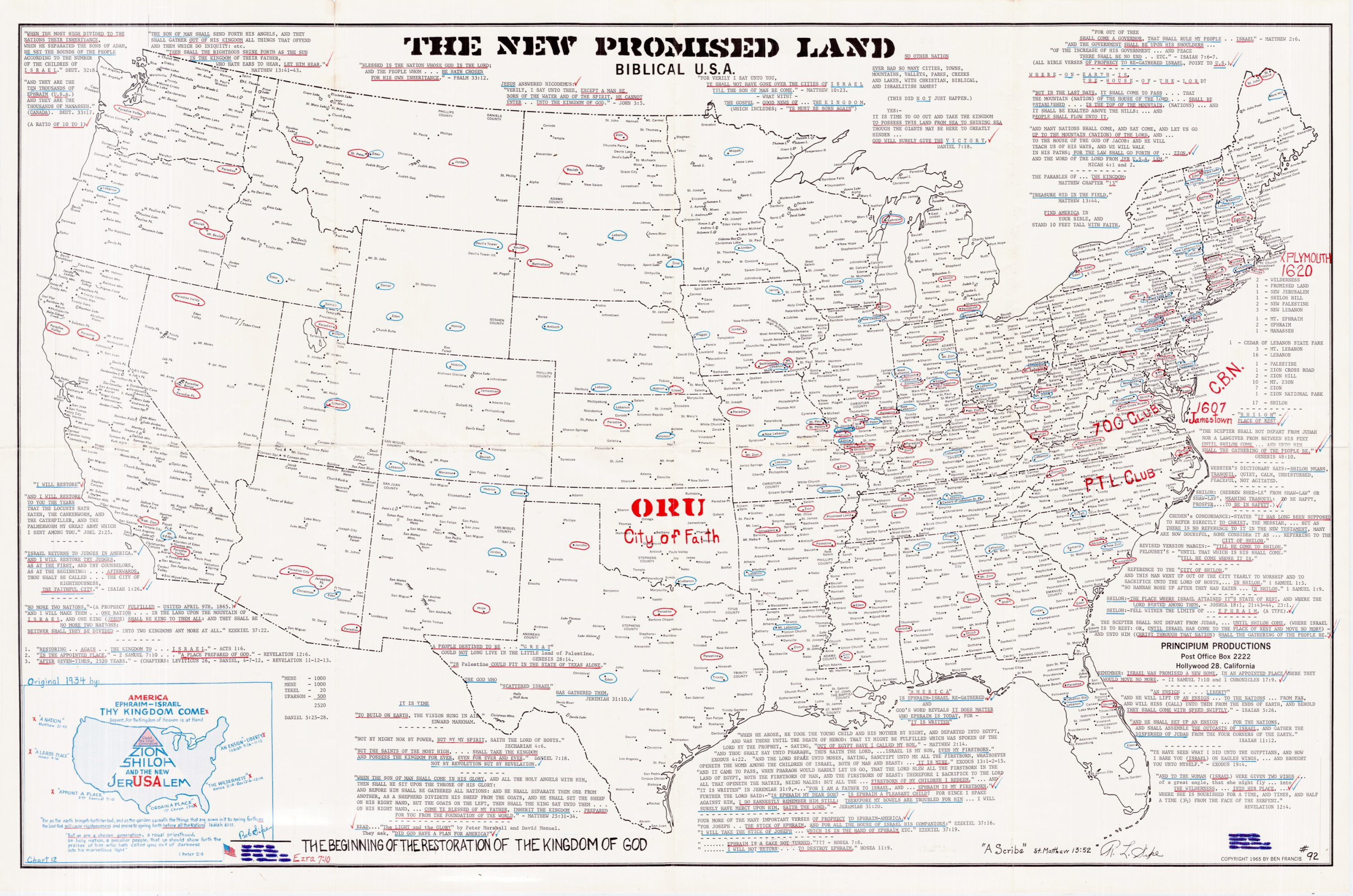 What Is The Map Of The United States.Evangelical Map Of The United States As The New Promised Land Rare