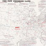 "Evangelical map of the ""New Promised Land"""