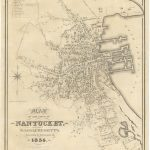 William Coffin Map of the Town of Nantucket 1834