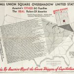 Anti-Communism: Alexander Cloyd Gill's map of America's Other 60 Families