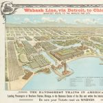 [Columbian Exposition ] Knight, Leonard & Co, eng., Wabash Line, via Detroit, to Chicago. SHORTEST ROUTE TO THE WORLD'S FAIR CITY. Chicago: Knight, Leonard & Co., 1892.
