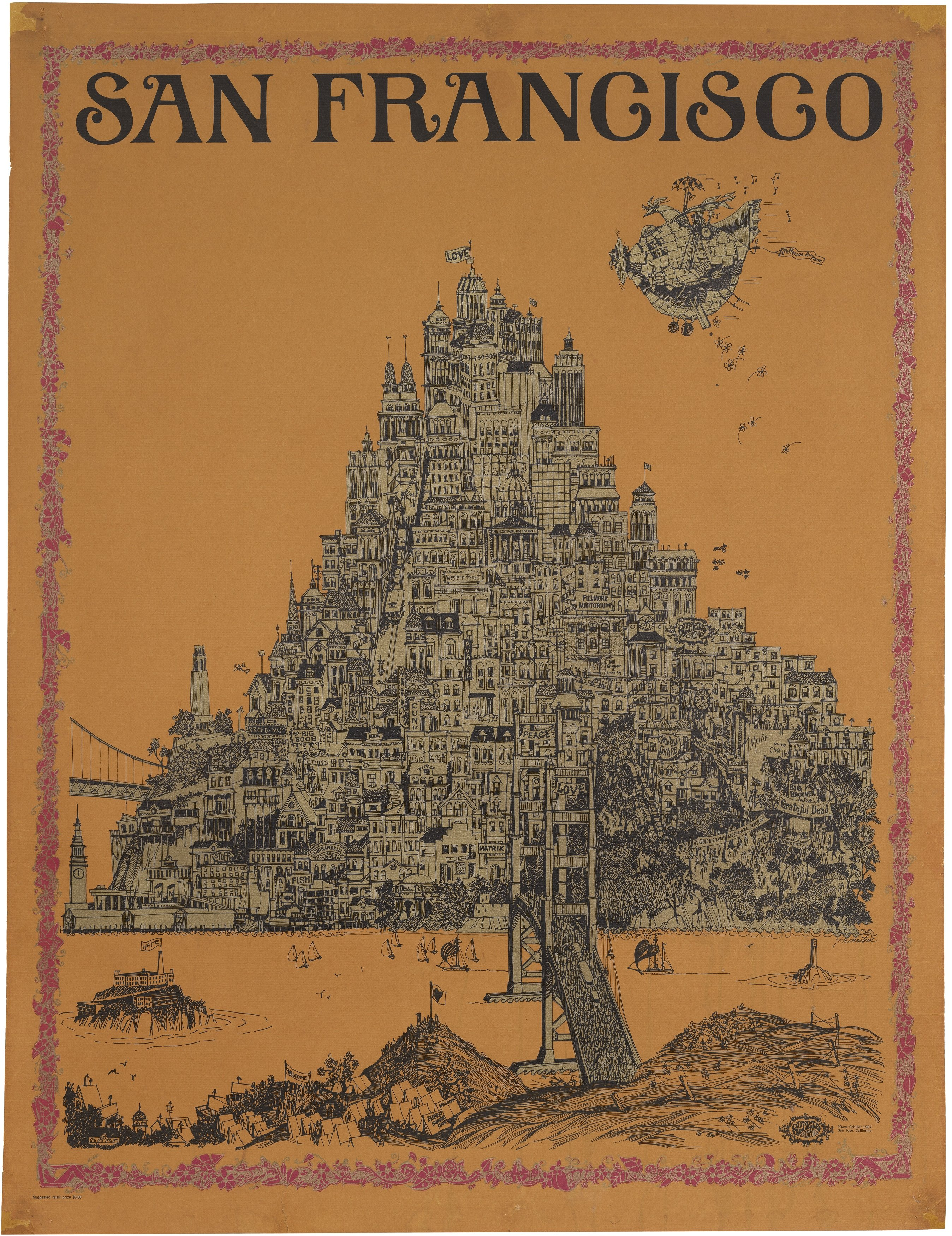 Psychedelic image of san francisco by sparta graphics for Buy reclaimed wood san francisco