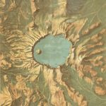 John H. Renshawe / United States Geological Survey, PANORAMIC VIEW OF THE CRATER LAKE NATIONAL PARK, OREGON. Washington, D.C.: Department of the Interior, [ca. 1914.]