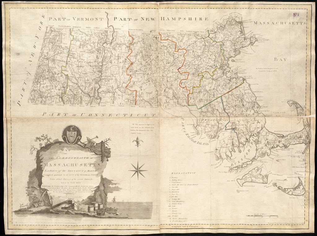 Osgood Carleton and John Norman, Accurate Map of the Commonwealth of Massachusetts. Boston, 1797.