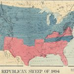 Electoral map by Wm. M. Bradley, REPUBLICAN SWEEP OF 1894[:] BRADLEY'S POLITICAL MAP OF THE UNITED STATES Showing Republican Sweep of 1894. Philadelphia: John E. Potter & Co., 1894.