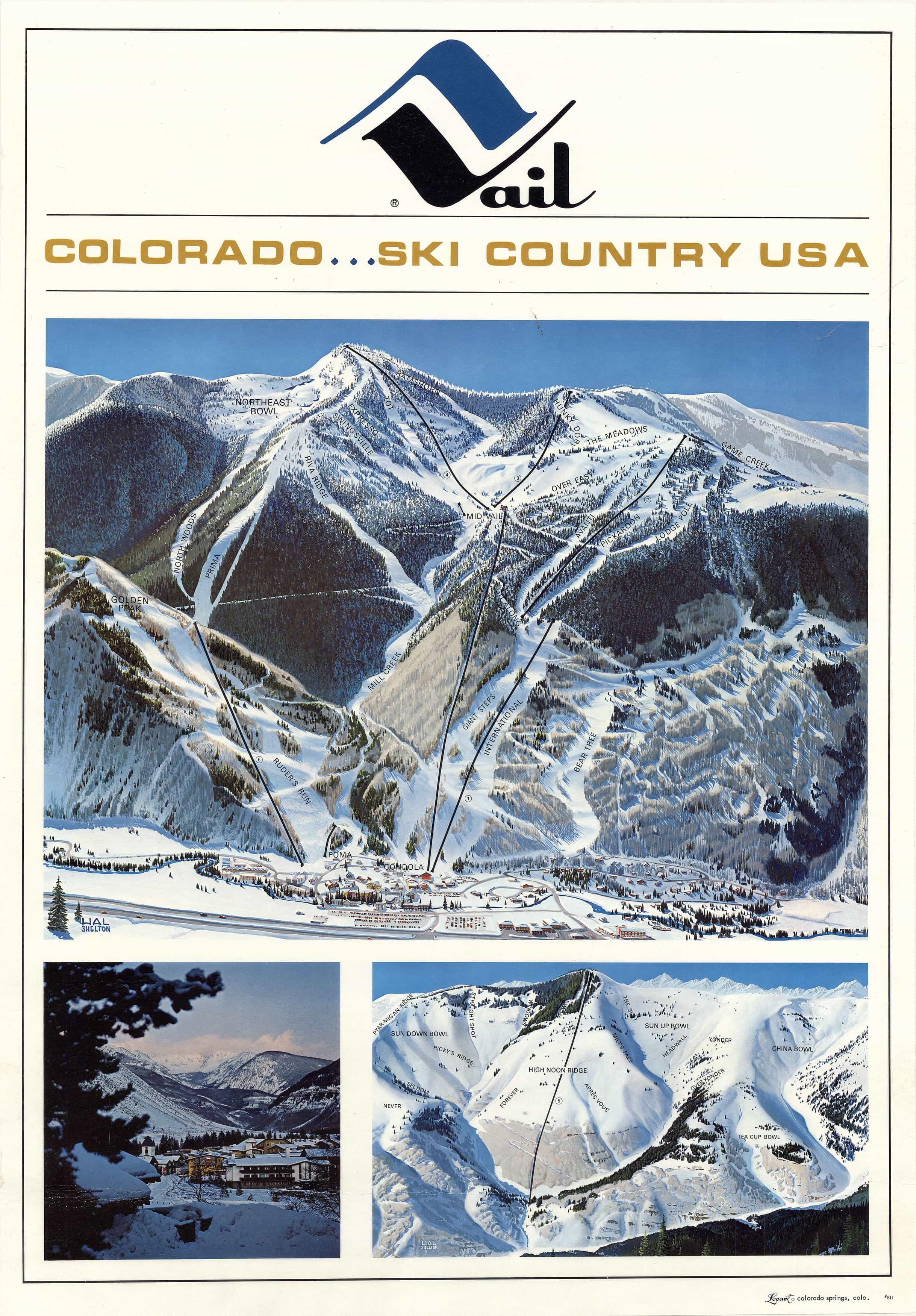 Snow Summit Mountain Resort Ski Map Poster