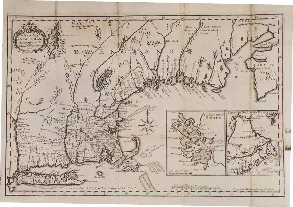 Daniel Neal, A New Map of New England from the Latest Observations, 1720