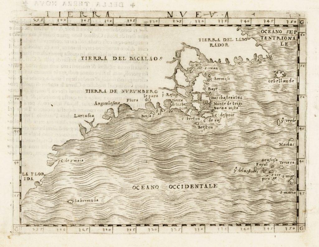 Giacomo Gastaldi, Tierra Nueva. Venice: 1548.