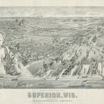 [Superior Wisconsin] Hallock-Harmon-Leader Co., PERSPECTIVE MAP OF THE CITY OF SUPERIOR, WIS. Milwaukee: American Publishing Co., [1893?]