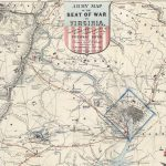 Joseph G. Bruff / Lith. of P.S. Duval, ARMY MAP OF THE SEAT OF WAR IN VIRGINIA, SHOWING THE BATTLE FIELDS FORTIFICATIONS etc. on & near the POTOMAC RIVER. New York: J. Disturnell and Washington, D.C.: Hudson Taylor, 1862.