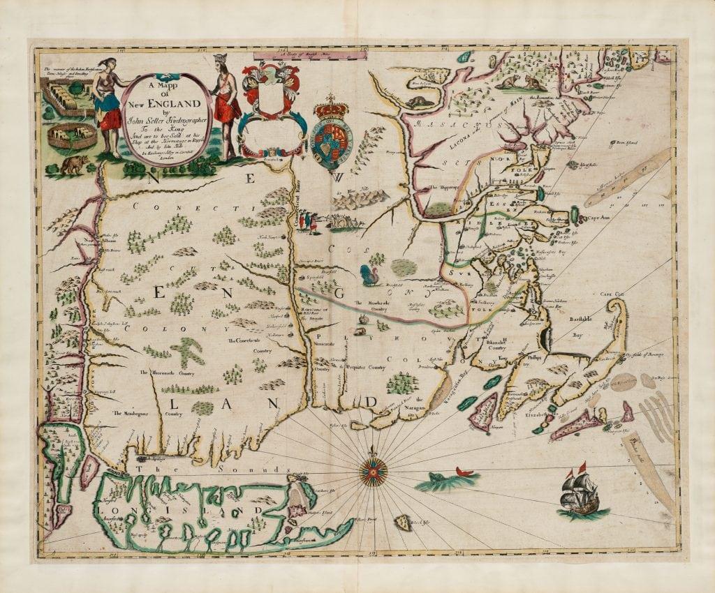 John Seller, A Mapp of New England. London, 1675.