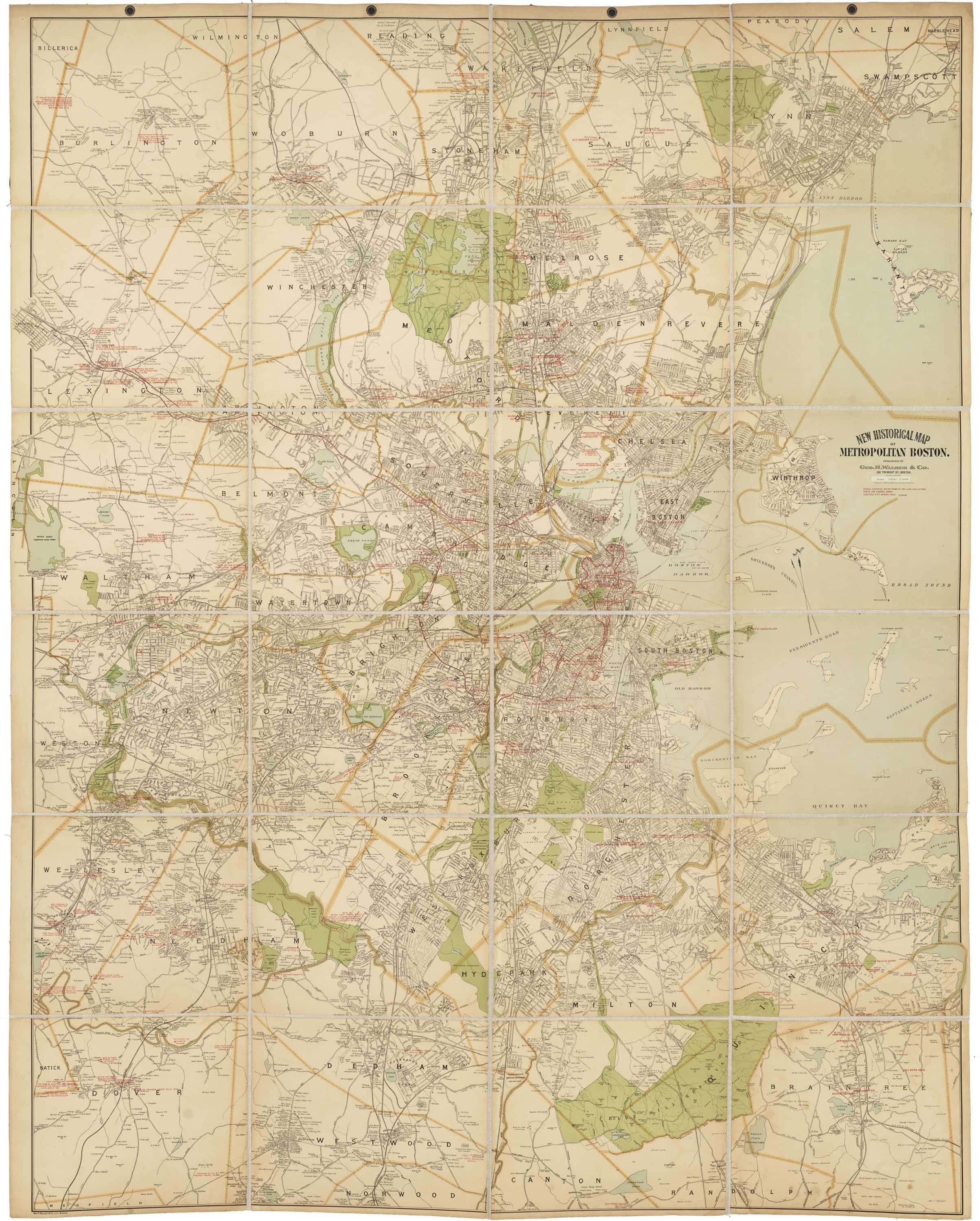Mammoth historical map of Boston and its metropolitan area ... on oarfish map, bakersfield street map, tonalea map, land of make believe map, tolleson map, sierra vista map, ak-chin map, tower falls map, hannagan meadow map, dragoon map, heber overgaard map, deep creek hot springs california map, mono lake map, the hole map, la jolla shores map, cave creek regional park map, oracle map, many farms map, national forest campground map, golden gate canyon state park map,