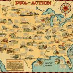 Rare handkerchief map of the United States, printed in full color