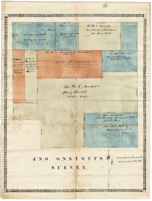 Attractive Lamar County Texas Manuscript Survey By A Family Patriarch