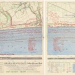 [ Omaha Beach ] Commander Task Force 122, OMAHA BEACH-EAST (Colleville-sur-Mer) [:] FIRST BEACH OBSTACLE OVERPRINT [with:] OMAHA BEACH-WEST (Vierville-sur-Mer) [:] FIRST BEACH OBSTACLE OVERPRINT. NP, April 21, 1944 (with overprinting of information dated May 12).