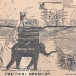 [ Election of 1872 ] Thomas A. Davies / Smart Sc[ulpsit?], WAR! WAR! WAR! TO THE KNIFE ON POLITICAL CORRUPTION. [:] POLITICAL SMASH-UP. Washington, 1872.