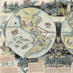 """[Louis Ernest Lesage] / Yves & Barret, sc., OU PEUT MENER LA QUESTION DE L'ALABAMA – FANTAISIE PRUSSO-AMÉRICAINE EN DEUX HÉMISPHÈRES (""""Where Could the Alabama Matter Lead? – German-American Fantasy in Two Hemispheres."""") Paris, March 9, 1872."""