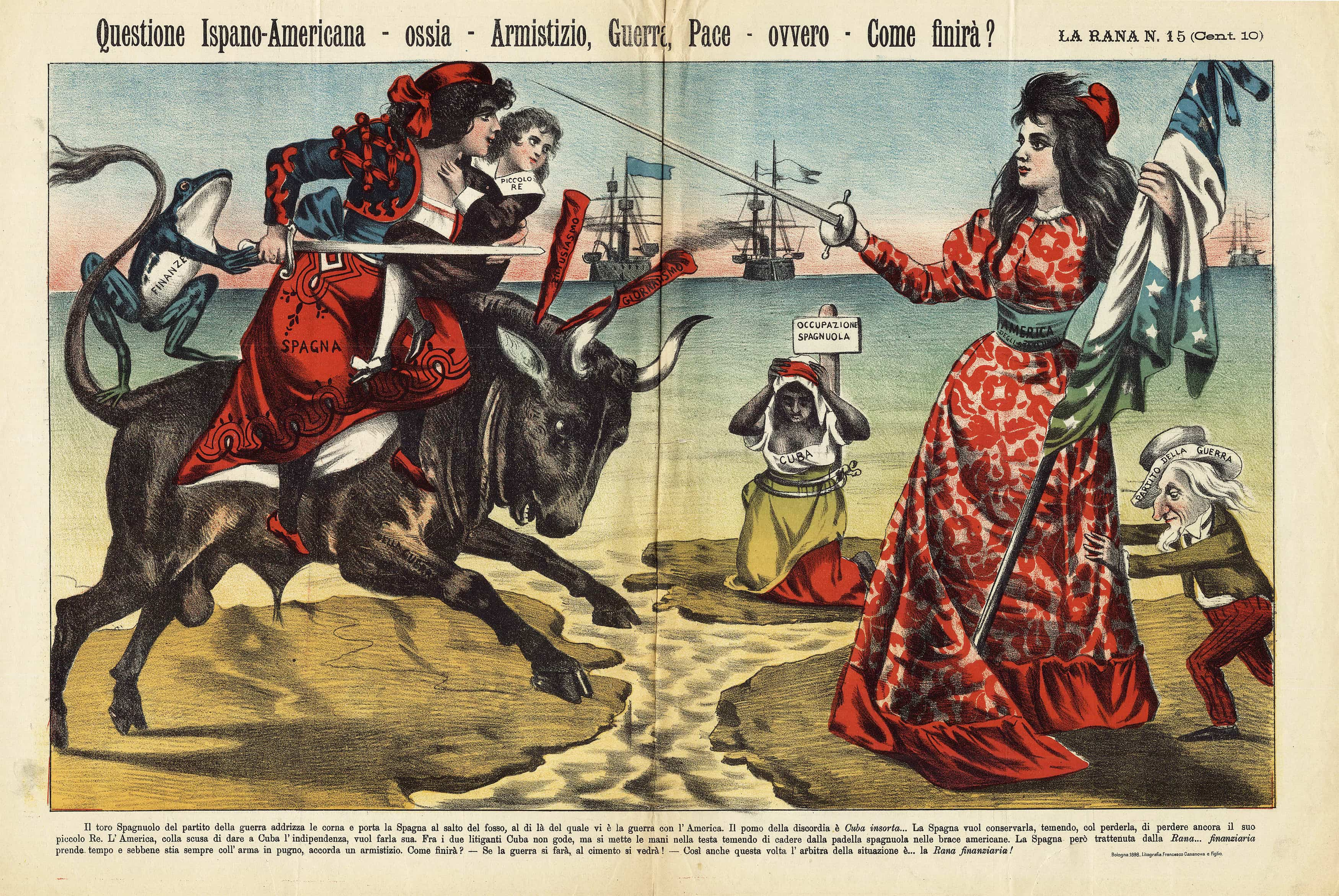 Italian Political Satire On The Looming Spanish American War