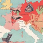 First World War propaganda map portraying Prussia as an octopus