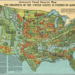 ARMOUR'S FOOD SOURCE MAP[:] THE GREATNESS OF THE UNITED STATES IS FOUNDED ON AGRICULTURE. [Chicago?] Armour and Company, 1932.