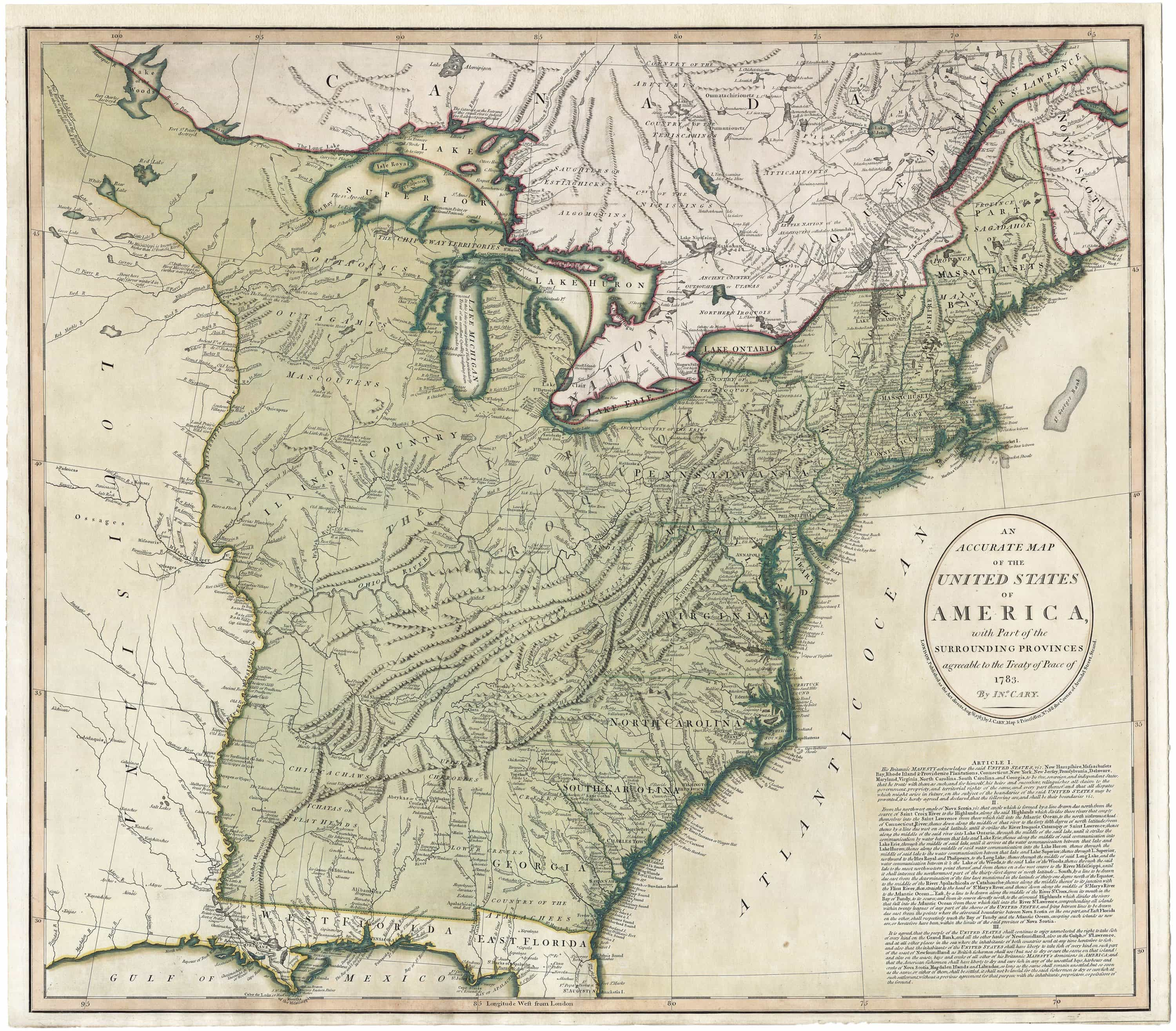 A rare, early and important map of the United States ...