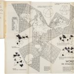 Fold out Dymaxion Map from R. Buckminster Fuller / McCormick-Armstrong Company, Wichita, Kansas (printer), FLUID GEOGRAPHY… PRINTED BY SPECIAL PERMISSION FROM AN ARTICLE IN THE AMERICAN NEPTUNE FOR APRIL 1944. [with:] The DYMAXION Map Patented January 29, 1946. No. 2,393,676. [Wichita: Fuller Research Foundation, 1946?]