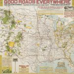 John C. Mulford, Chief Cartographer / C. C. Faunce, Cartographer / A. Hoen & Co., Baltimore, GOOD ROADS EVERYWHERE[:] UNITED STATES TOURING MAP SHOWING 150,000 MILES OF PRINCIPLE TRAVELED HIGHWAYS…. Washington, D.C.: National Highways Association, 1924.