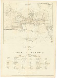 [Charles Blaskowitz], A PLAN of the TOWN OF NEWPORT in the Province of Rhode Island. London: J.F.W. Des Barres, April 24, 1776.