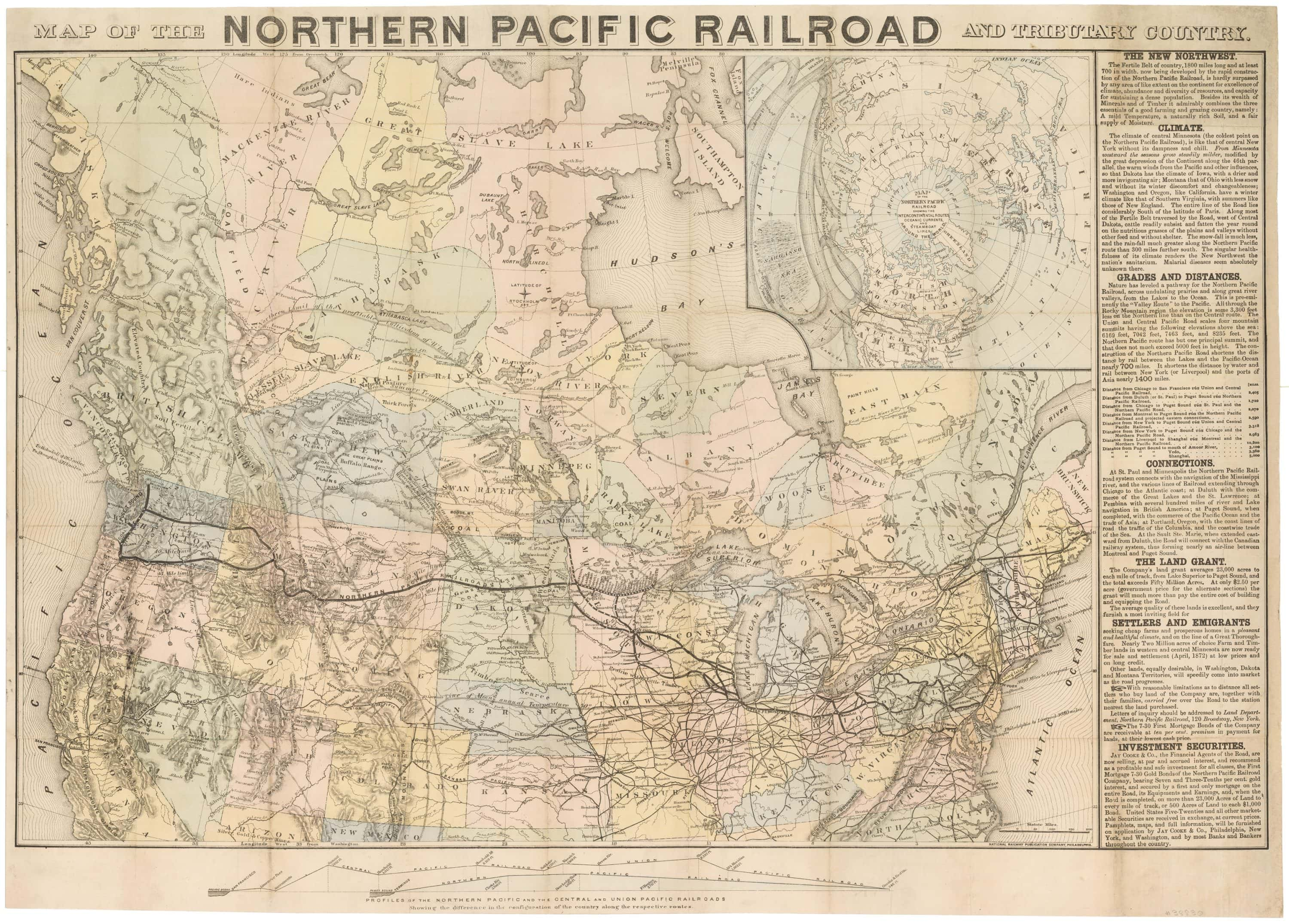 Image of: A Particularly Creative Map For Selling Northern Pacific Railroad Lands Rare Antique Maps