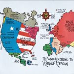 [After David Horsey], THE WORLD ACCORDING TO RONALD REAGAN. Information Center of the World Peace Council , [1982-83?].