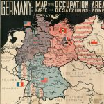 GERMANY: MAP OF THE OCCUPATION AREAS [:] KARTE DER BASATZUNGS-ZONEN. Frankfurt am Main: Atlanta Service, [late 1945].