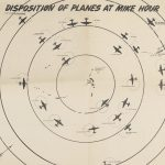 [ Operation Crossroads ] DISPOSITION OF PLANES AT MIKE HOUR. [Probably the South Pacific, near Bikini Atoll, mid-1946].