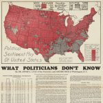 [ Herbert Hoover ] Detail of thematic map at top of Annie G. Lyle and Archive Rice, Political Sentiment Map Of United States [:] WHAT POLITICIANS DON'T KNOW. San Francisco and Washington, D. C., 1931.