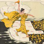 Cartoon map taking aim at the Guggenheim mining empire