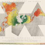 Imposing 1958 thematic map of global crude oil production