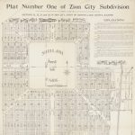 John Alex[ander] Dowie, Plat Number One of Zion City Subdivision BEING A PART OF SECTIONS 21, 22, 27, and 28, IN ZION CITY…TOWN OF BENTON…LAKE COUNTY…ILLINOIS. Chicago: Zion Land and Investment Association, [ca. 1901].
