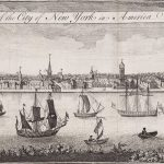 [After William Burgis], The South Prospect of the City of New York in America. [London: R. Baldwin, August 1761].